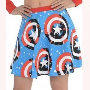 American Dream Skirt Captain America Skirt NWTs